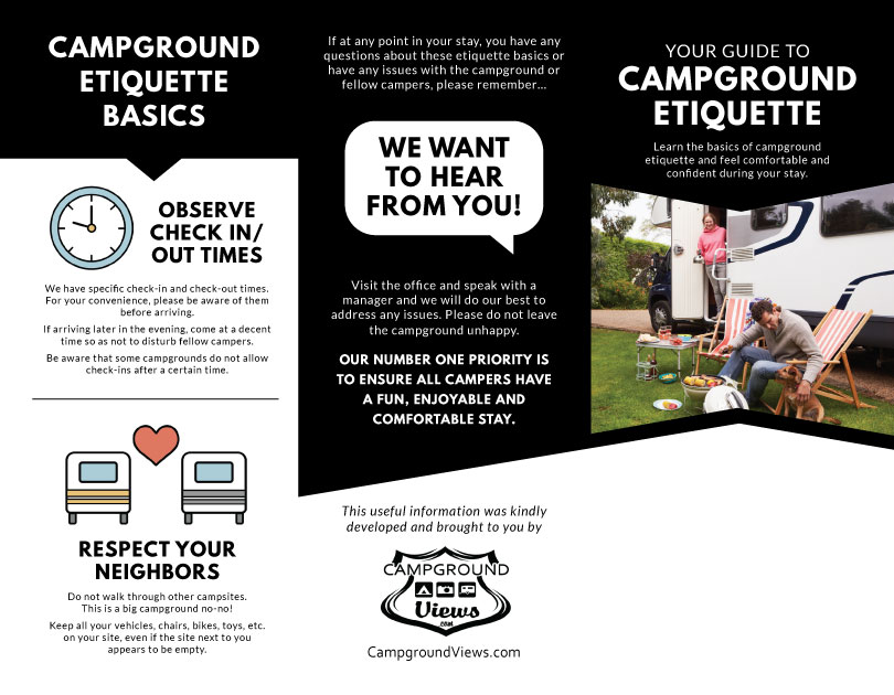 Customizable Camper Etiquette Guide Is Now Available
